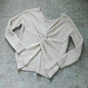Olive & Oak Jayda Twist Back Ivory Sweater